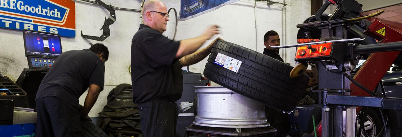 La réparation des pneus